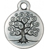 Charm Tree Of Life 15mm Antique Silver